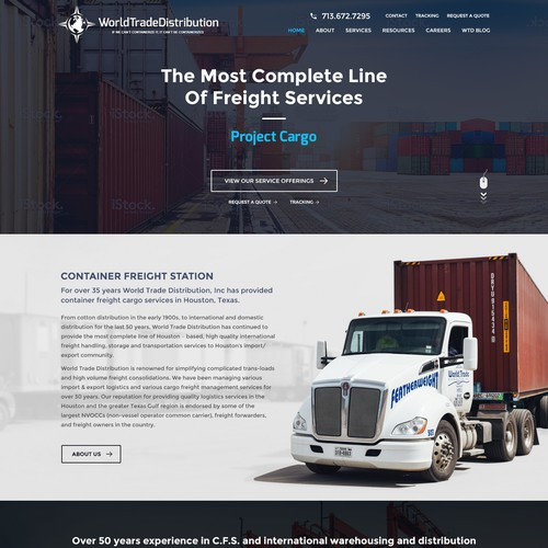 WTCFS function Landing page with Inner pages