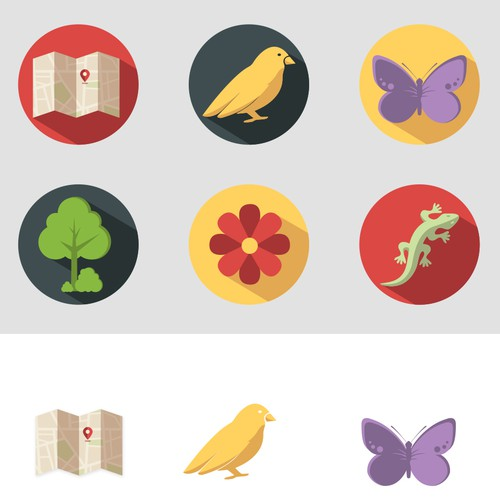 Icons for a nature app