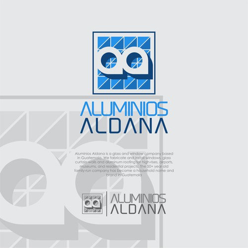 logo concept for aluminios aldana