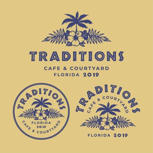 Vintage Florida logo concept🌺
