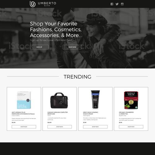 Bold, Dark, and Minimalist Design for Online Fashion Retailer