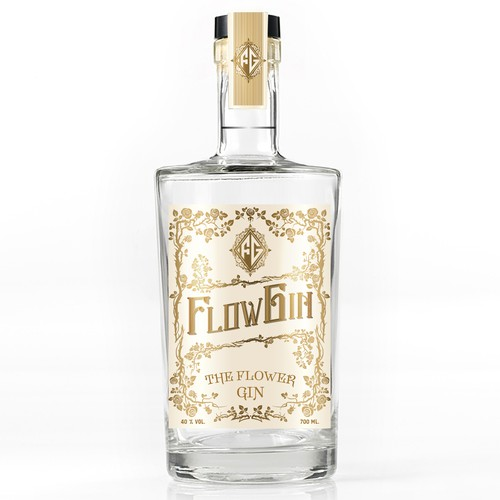 Design a vintage style label for a premium Gin