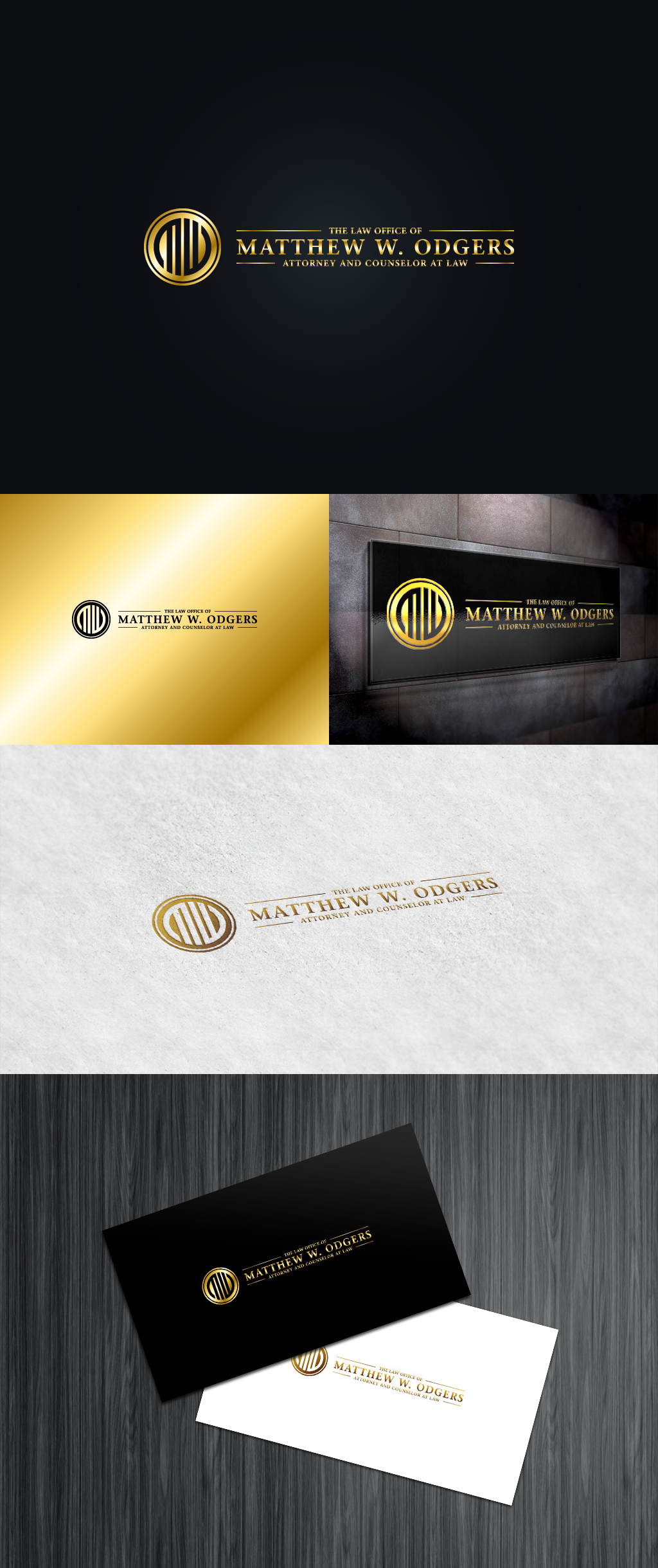 Create the next logo for Matthew W. Odgers, Attorney and Counselor at Law