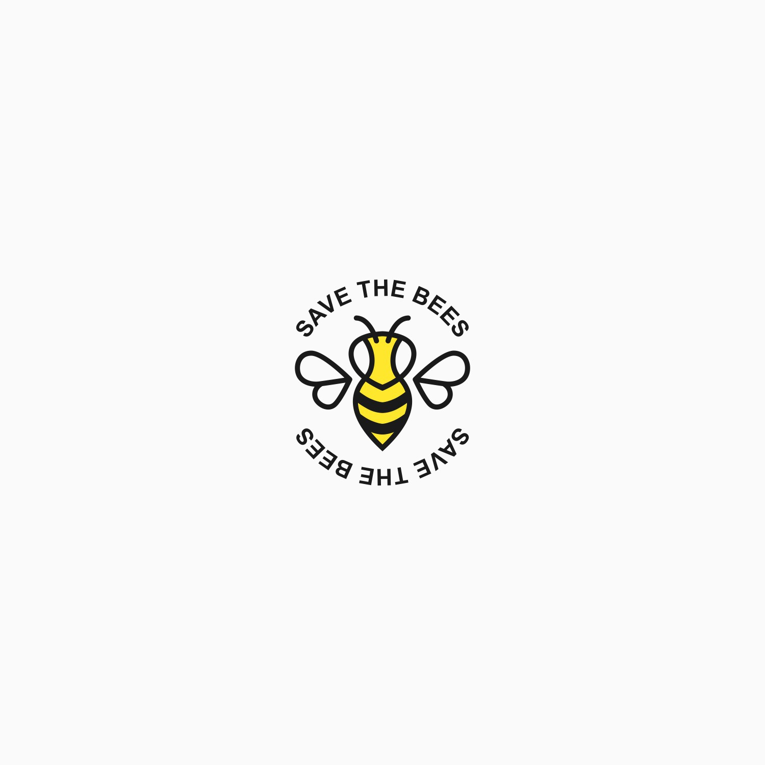Save the bees - Stamp
