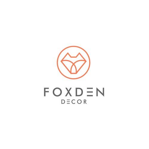 minimalist logo for fox decor