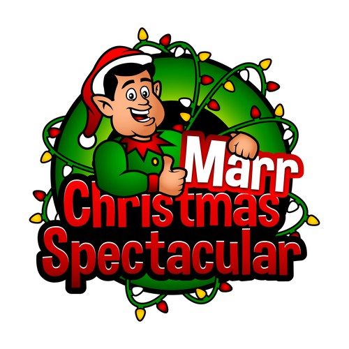 Cartoon Elf Logo to be Used for Christmas Lights Contest