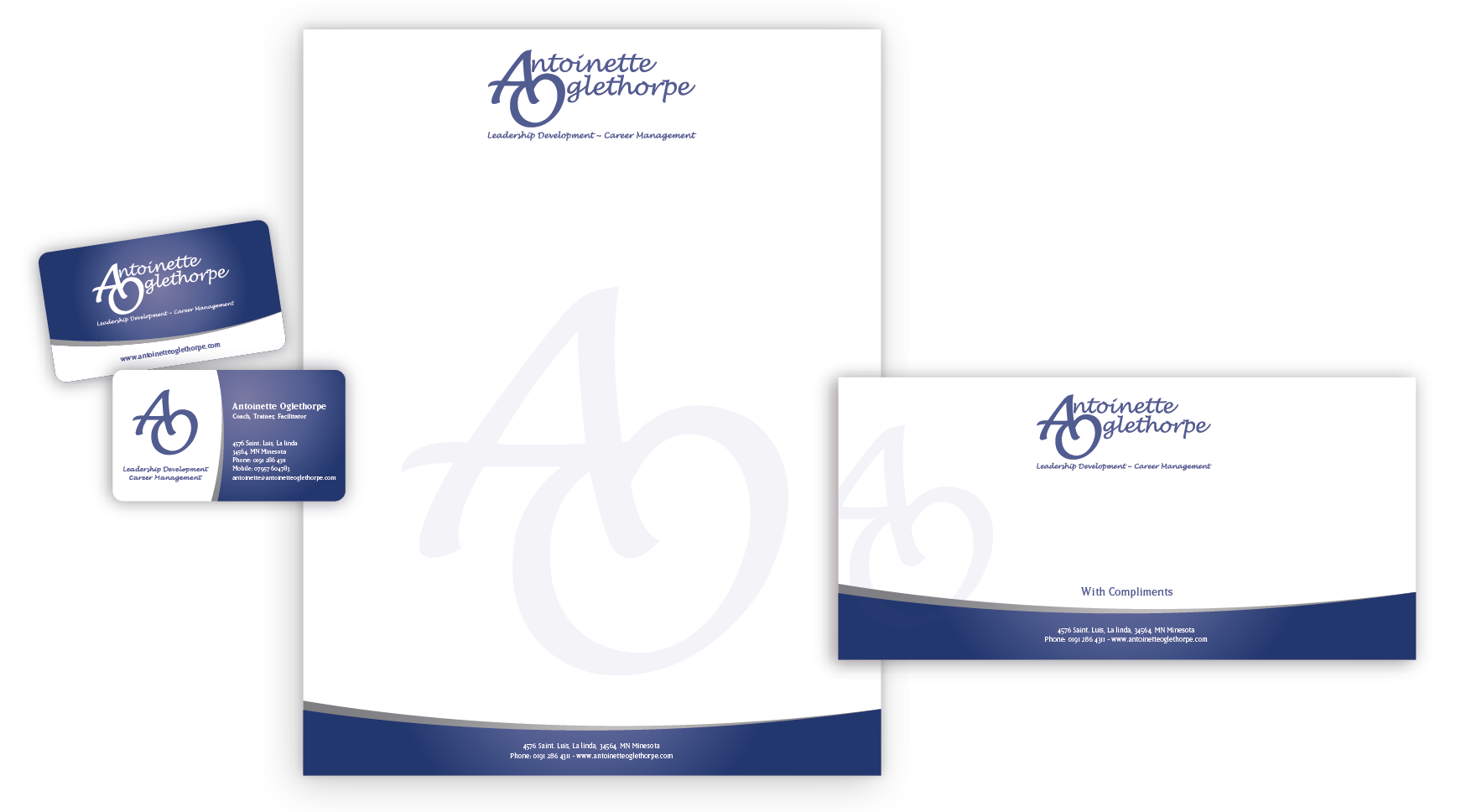 New stationery wanted for Antoinette Oglethorpe Ltd