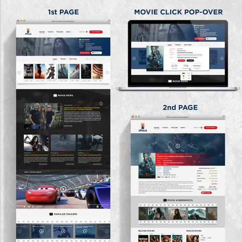 Movie rating website design