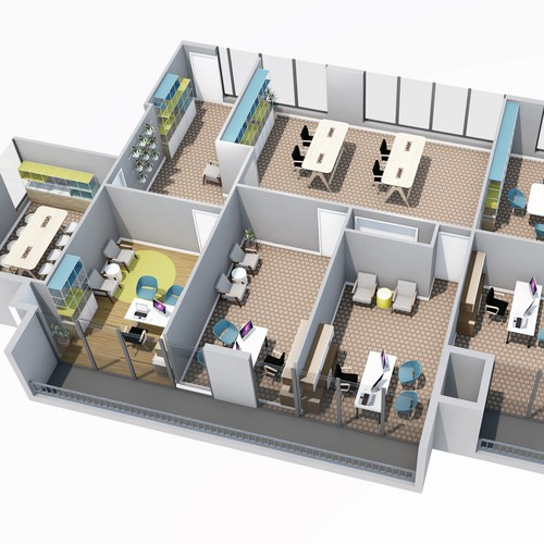 Office Renovation Layout Design