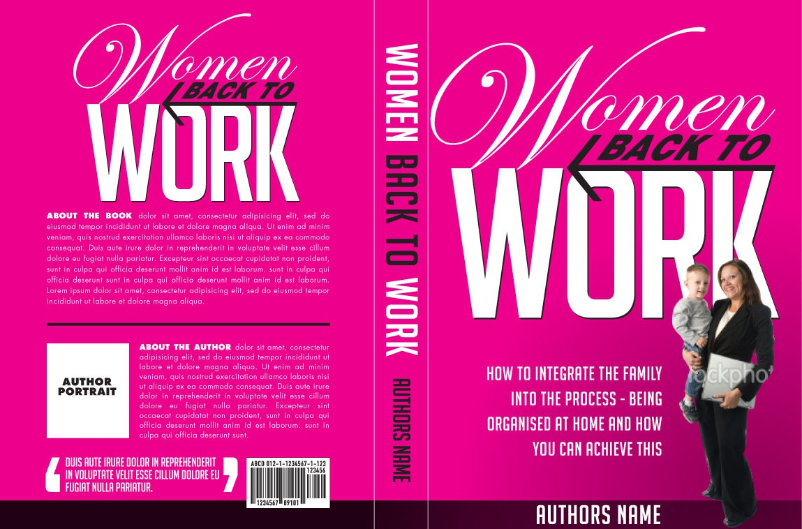 Create the next book or magazine cover for Women back to Work