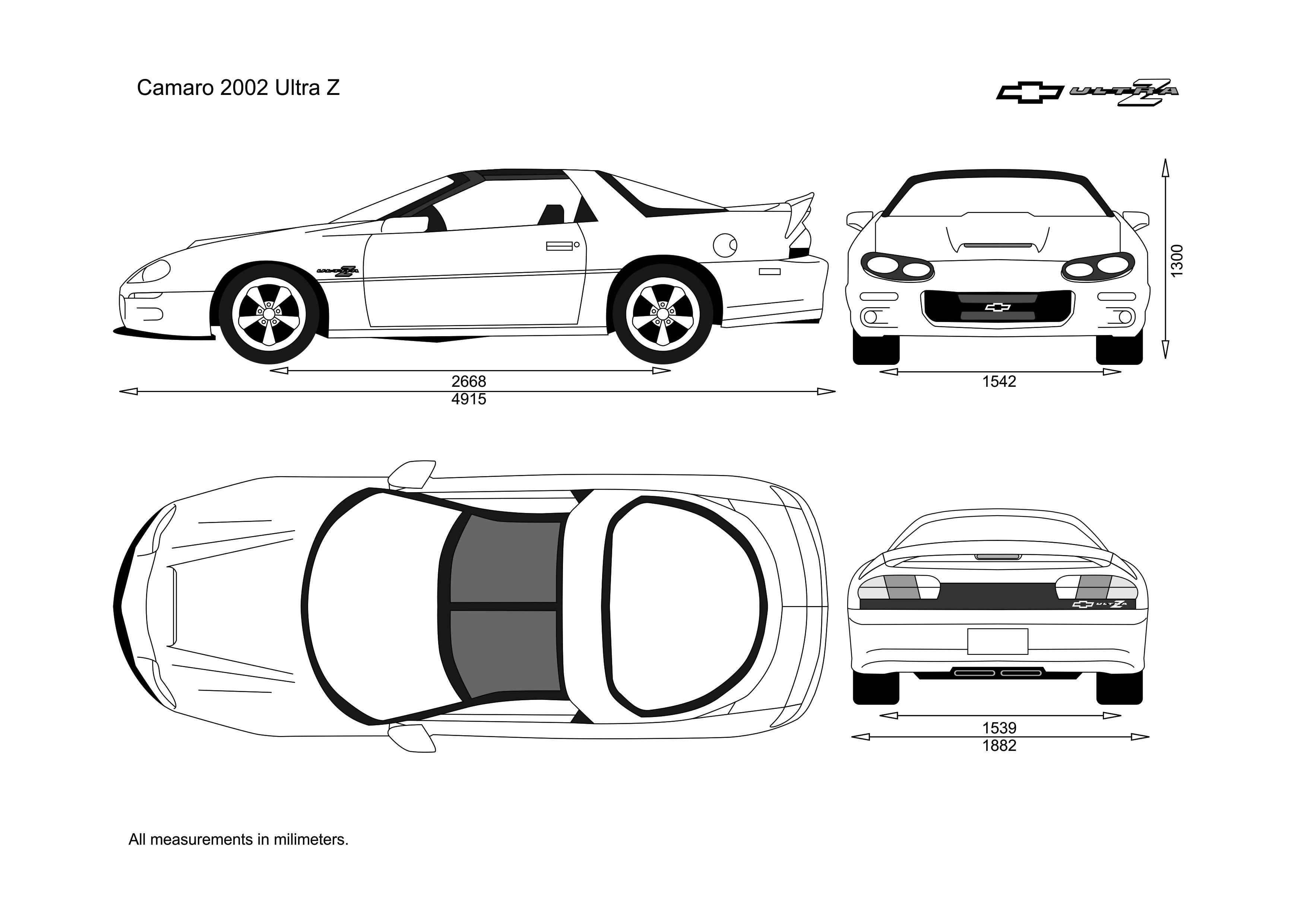 Camaro 2002 3d model car design