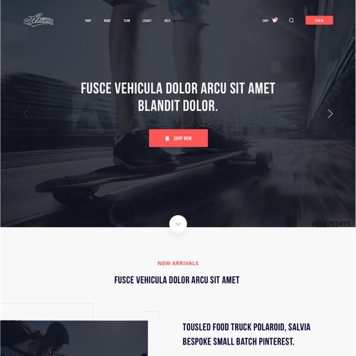 Axion Footwear Website Design