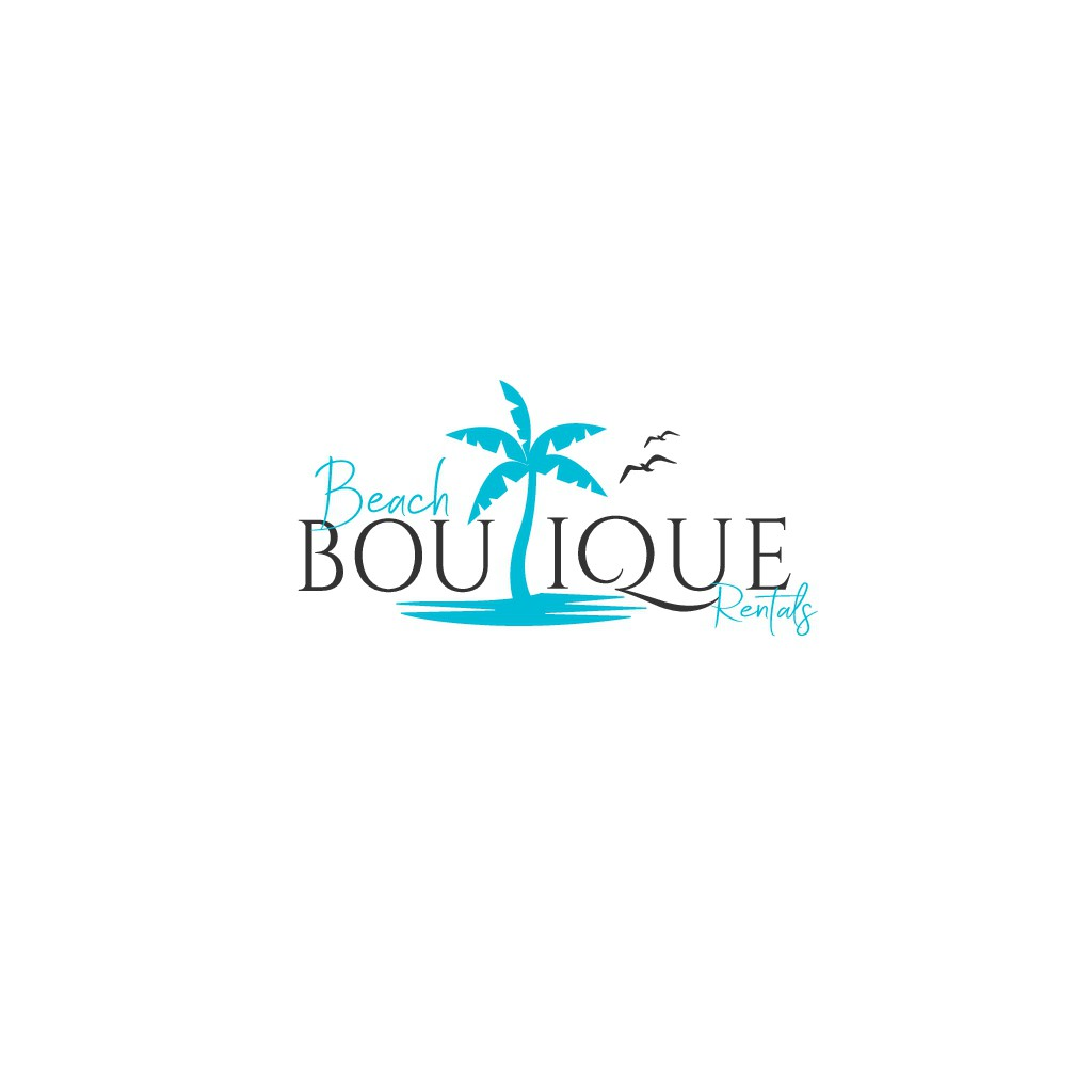 Beachy Logo for  Vacation home rental agency on tropical island