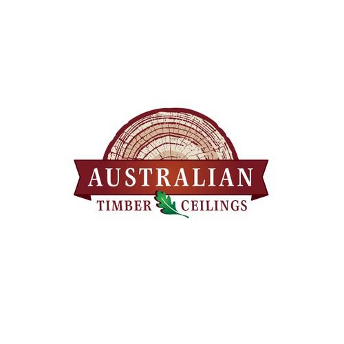 Logo concept for Australian Timber Ceilings