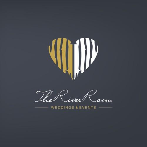 Sweet and elegant logo for river side wedding service