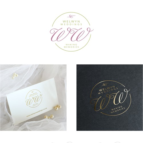 Welwyn Weddings logo design