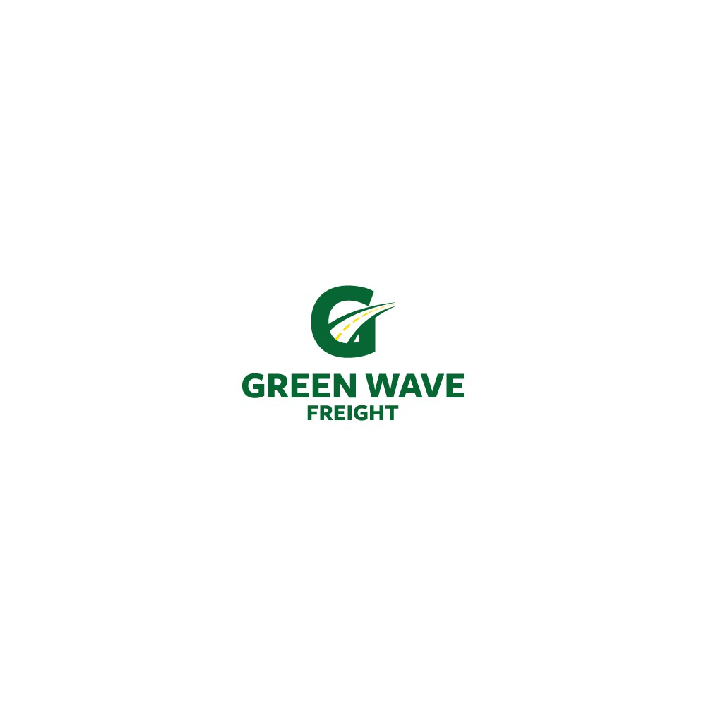 Green Wave Freight Shipping Company Logo