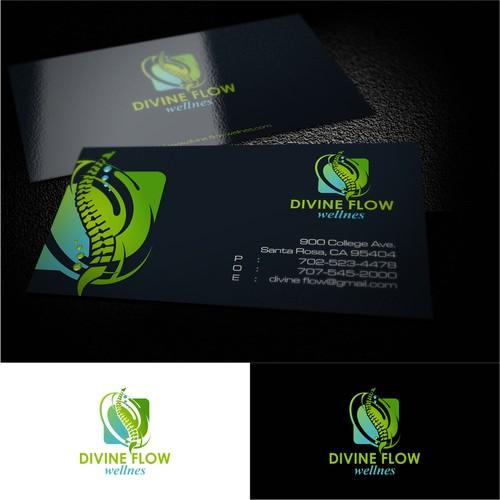 Divine Flow Massage simple design logo