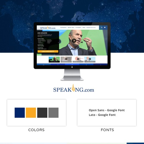 Website UI Redesign For Speaking.com