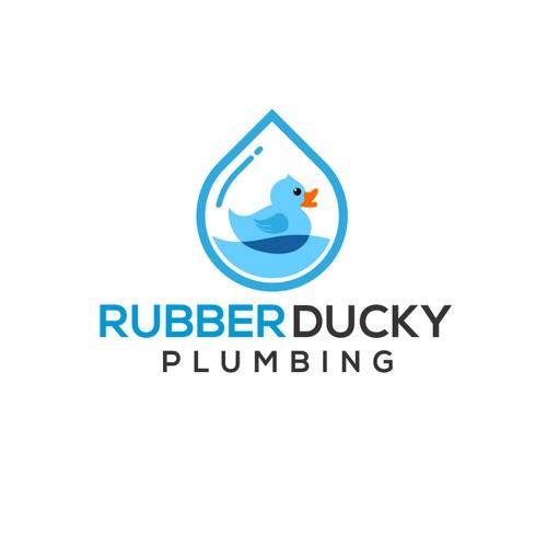 Rubber Ducky Plumbing Logo