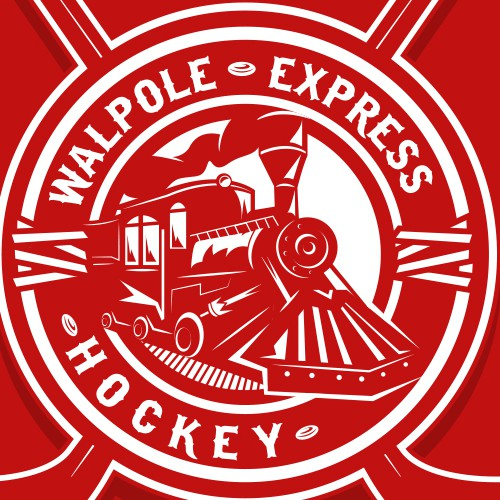 Create a 2 color Train logo for a Hockey Team