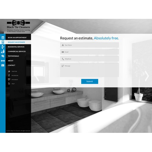 Landing Page Design for Black Tie Cleaners