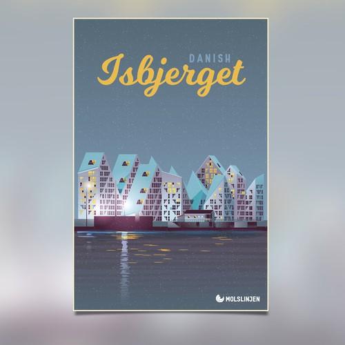 Isbjerget Vintage Travel Poster