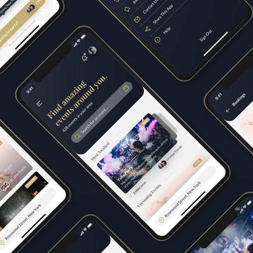 Concept for Event Social App