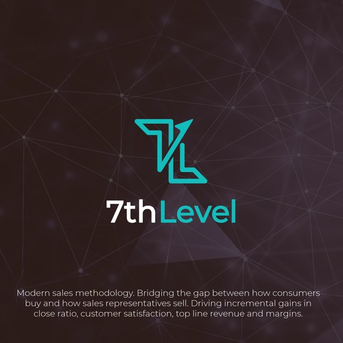 Minimalist logo design for 7th Level
