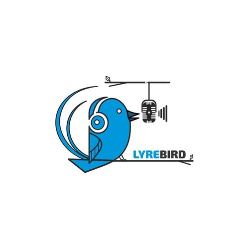 Logo concept for a music company