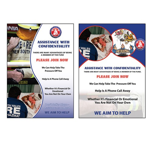 CHARITY NEEDS YOUR HELP - POSTERS for Employees of the NSW Fire Brigades Relief and Welfare Fund