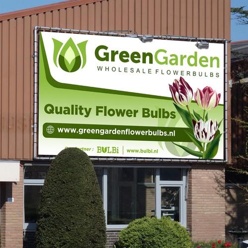 Green Garden Signage Design