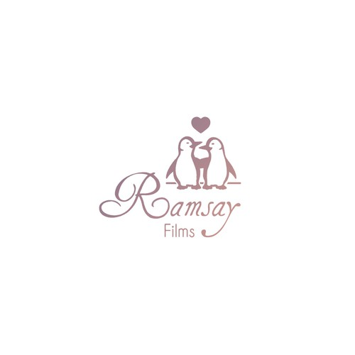 Logo design concept for a startup wedding cinematic video company