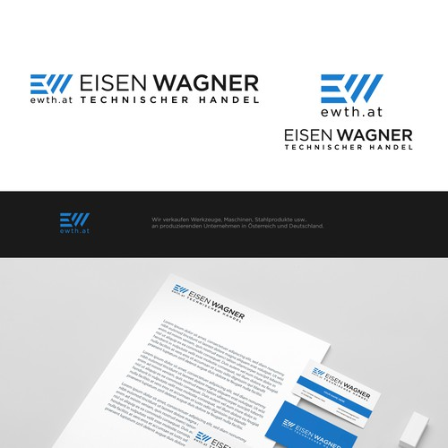 Simple, clean and professional logo concept for Eisen Wagner.