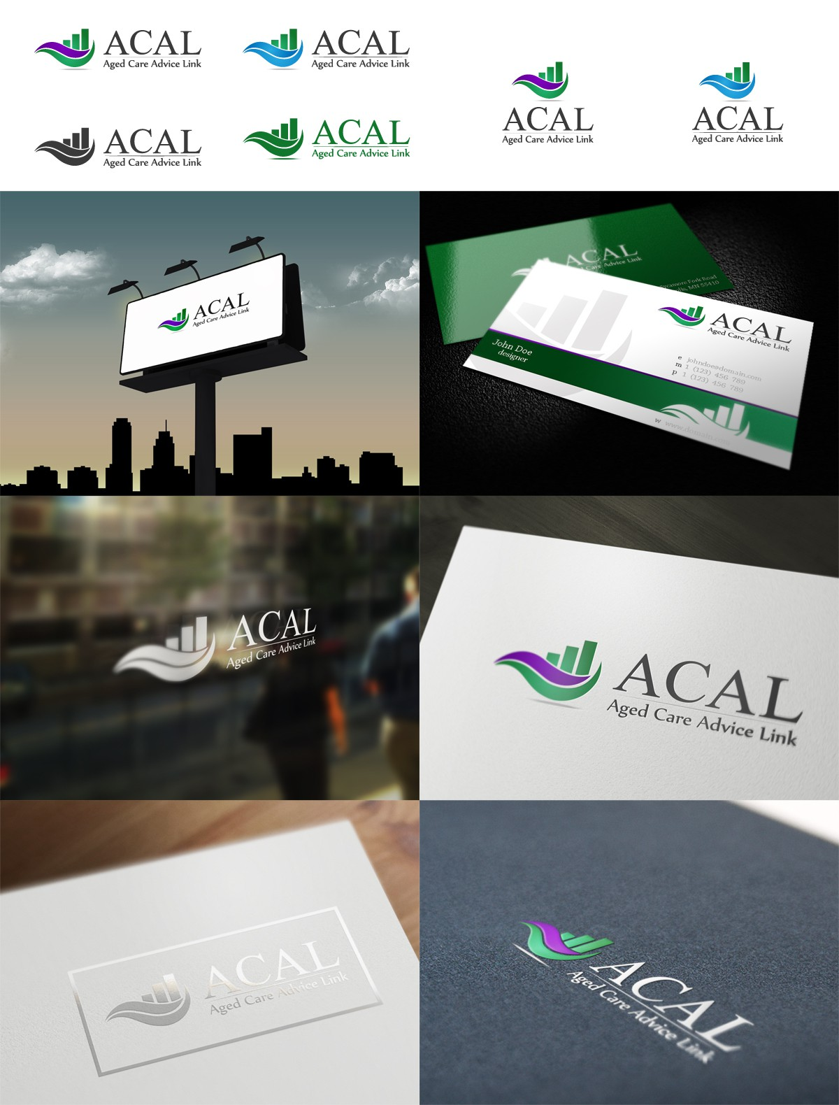 Create the next logo for Aged Care Advice Link (ACAL)