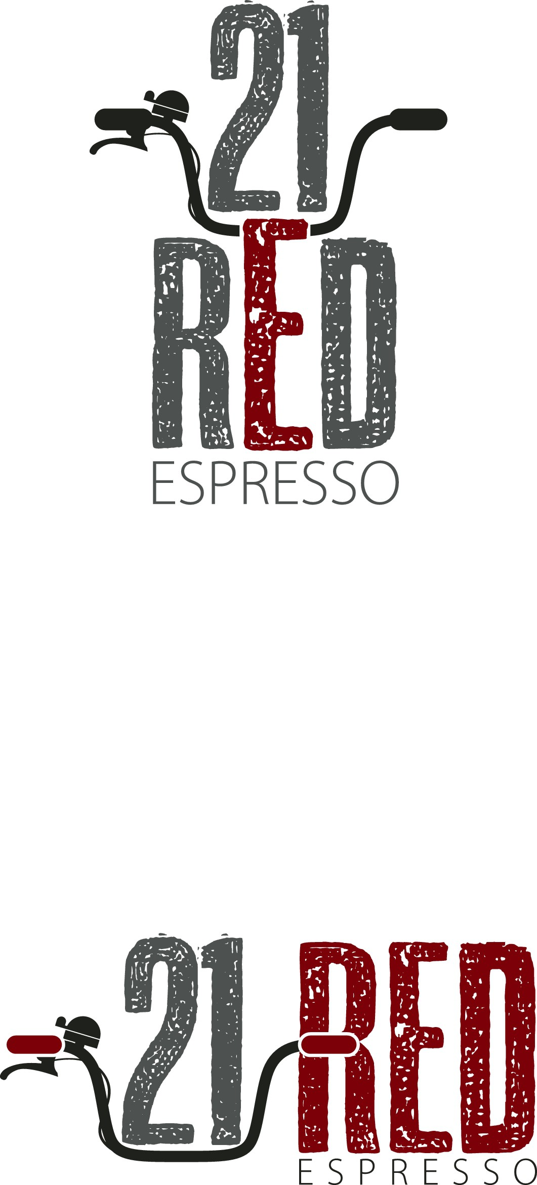 Create an industrial kind of logo for funky espresso bar