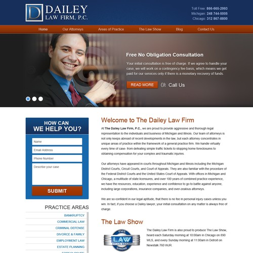 Dailey Law Firm needs a new website design