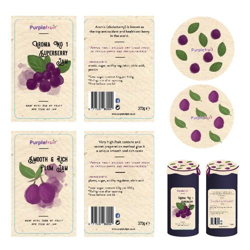 PurpleFruit Jam Label Redesign