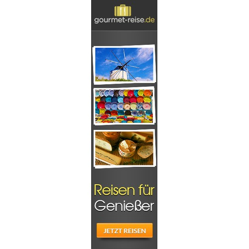 Banner Ad Design - Create a banner for a culinary travel website
