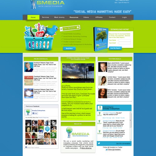 Website design for Smedia