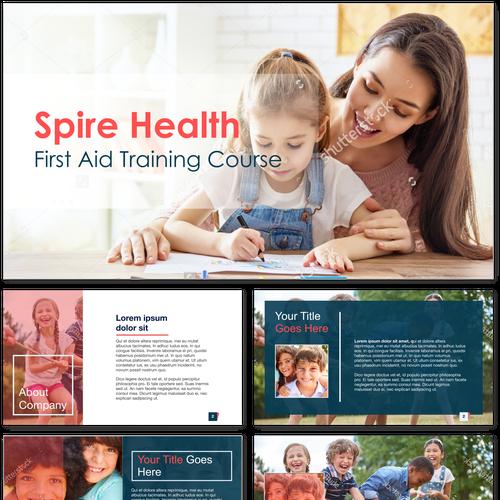 powerpoint design for Spire Health
