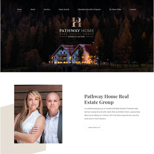Web design for Pathway Home Real Estate Group