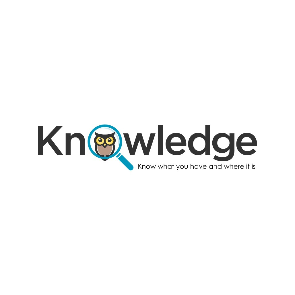 Owl logo design for an inventory management system