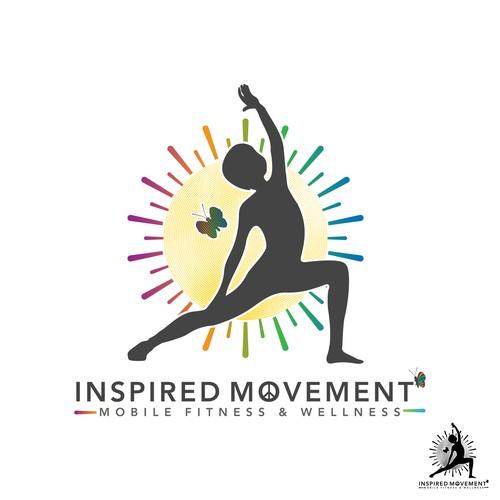 Un logo atractivo y vibrante, para niños y jóvenes que practican yoga.