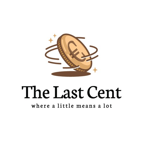 A playful logo design for The Last Cent
