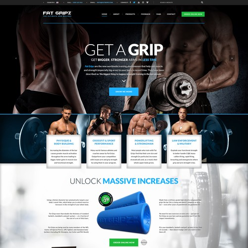 Gym Equipment Website Design Concept