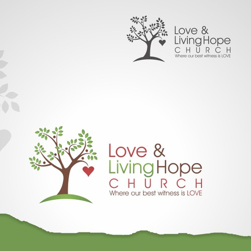 Prize Winning Logo Design for Love & Living Hope Church