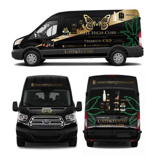 Mile High Cure Van Wrap