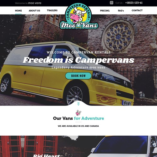 Bold Design for Camper van Services
