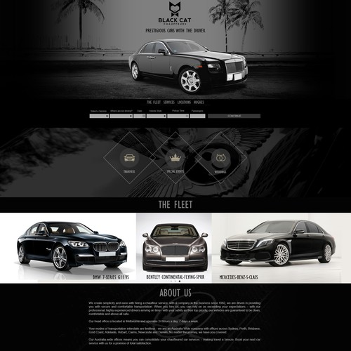 website for black cat chauffeurs